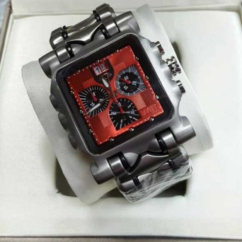 Oakley Gear Titanium red chrono mesin swiss 4.5cm 480x480