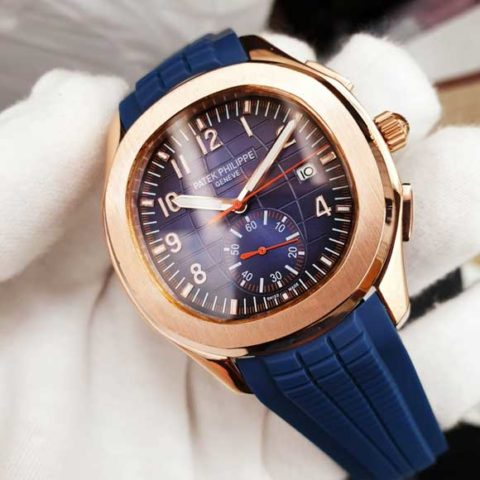 Patek Philippe nautilus world C10 Rubber blue rosegold 480x480 Jam Tangan Patek Philippe PP90 Rosegold World Rubber