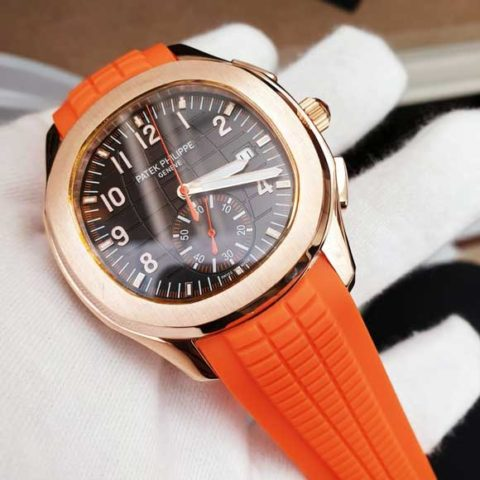 Patek Philippe nautilus world C10 Rubber orange rosegold brown dial 480x480 Jam Tangan Patek Philippe PP90 Rosegold World Rubber