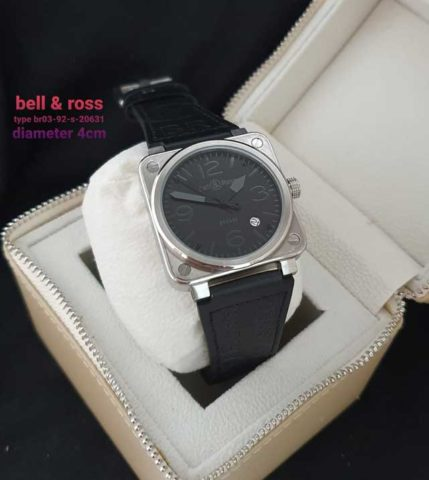 Bell Ross Kotak black leather