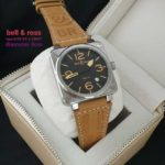 Jam Tangan Bell & Ross Square Leather Baterai KW Super Grade AAA