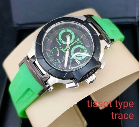 Tissot wanita T race ladies rubber green (3.4cm)